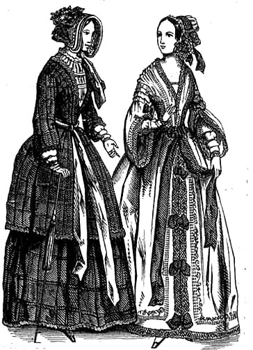 Cambric Muslin Peignoirs, 1844