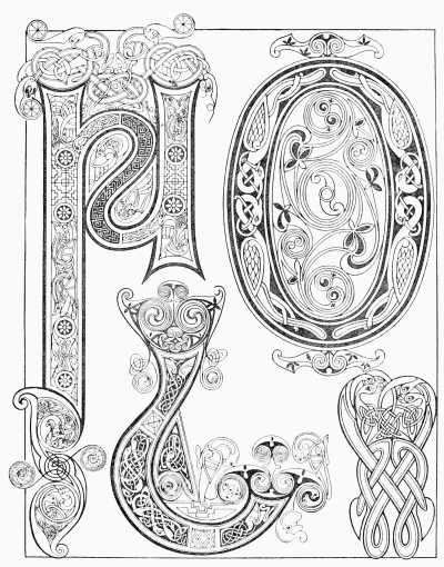 """Plate VIII, """"Examples from the Book of Kells, 9th Century ..."""