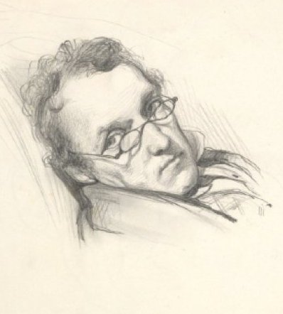 Leighton's pencil portrait